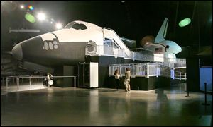 The Space Shuttle exhibit at the National Museum of the United States Air Force in Dayton.