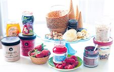 An-array-of-ingredients-for-an-ice-cream-treat