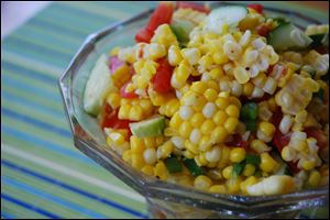 Fresh Corn Relish Salad is low in fat and bursting with flavor.