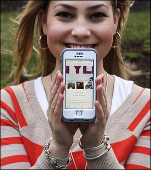 Melissa Ellard, 23, shows her Hinge profile on her iPhone. Ms. Ellard says she wouldn't have gone on a date during the last six months were it not for the Hinge dating app.