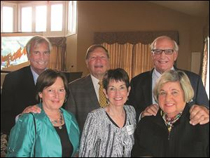 Toledo couples attend the local reception for Interlochen Center for the Arts, from left, are Sue and Jim White, Mary Ann and Jim Kline, and Polly and Tom Webb.