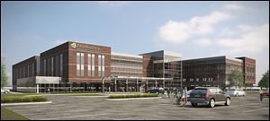 An artist's rendering shows the ProMedica facility planned for the Starlite Plaza on Monroe Street.