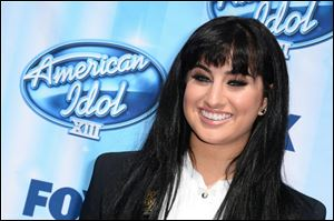 Jena Irene arrives at the 'American Idol' finale.