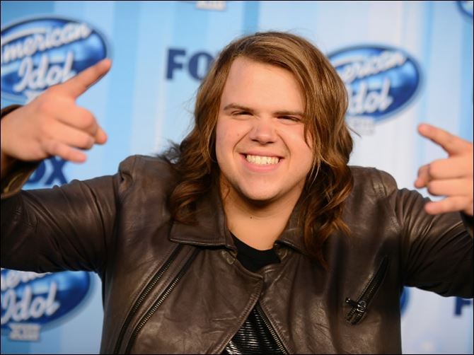 American Idol XIII Finale - Press Room Winner Caleb Johnson poses in the press room at the 'American Idol' finale at the Nokia Theatre on Wednesday in Los Angeles.