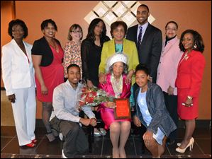 Family and committee members pictured with 2014 Mother of the Year, Frenchaye Harper Lathom