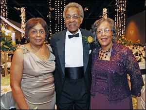 Left to right Marie Bush, Conclave co-chair and luncheon chair, Ralph Lewis, and Carolyn Lewis, dinner chair, during the