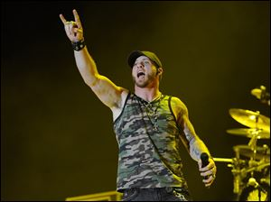 Brantley Gilbert performs at the Stagecoach Music Festival on April 25 in Indio, Calif.