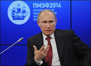 Russian President Vladimir Putin said Friday at an investment forum that Russia will
