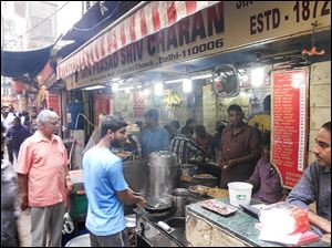 Paratha, or deep-fried bread, is a specialty of the old city of Delhi. It has been sold at the same location for 142 years.