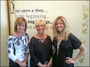 Fund-raiser chairmen for Claire's Night were, from left, Angie Thetford, Cathy Trimble, and Kristin Zilke.