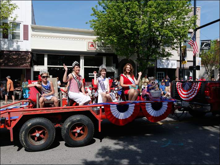 Beauty queens, Boy and Girl Scout troops, local politicians, motorcyclists and antique cars were part of this year's parade.