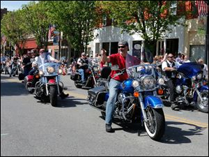 American Legion riders from Post 468 in the parade.