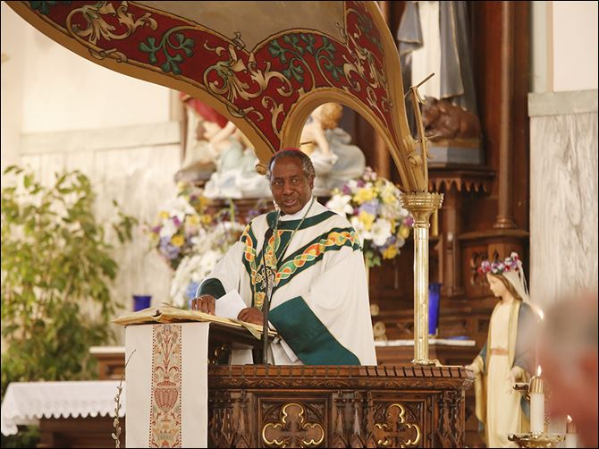 27n3archbishop Archbishop Paul Ruzoka, of Tabora, Tanzania, led several Masses during his visit to Toledo, including a Blue Mass Historic Church of Saint Patrick.