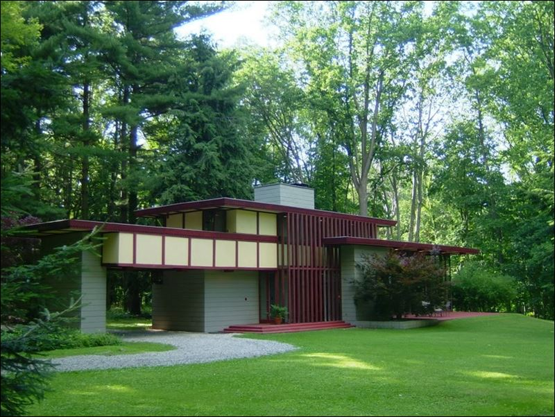 Ohio home designed by frank lloyd wright on the market Ohio homebuilders
