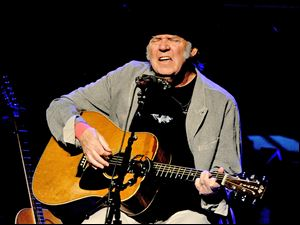 Singer/songwriter Neil Young performs at the Dolby Theatre on March 29 in Los Angeles.