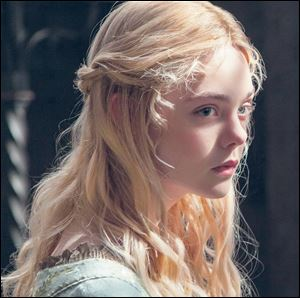 Elle Fanning portrays Aurora in Disney's 'Maleficent.'