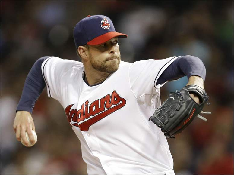Cleveland Indians starting pitcher Corey Kluber delivers against the Colorado Rockies.