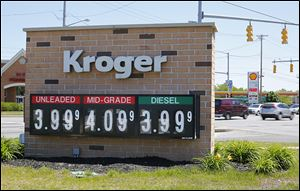 The Kroger and Shell stations at Secor Road and Monroe Street were both charging $3.99 a gallon for gasoline on Friday.