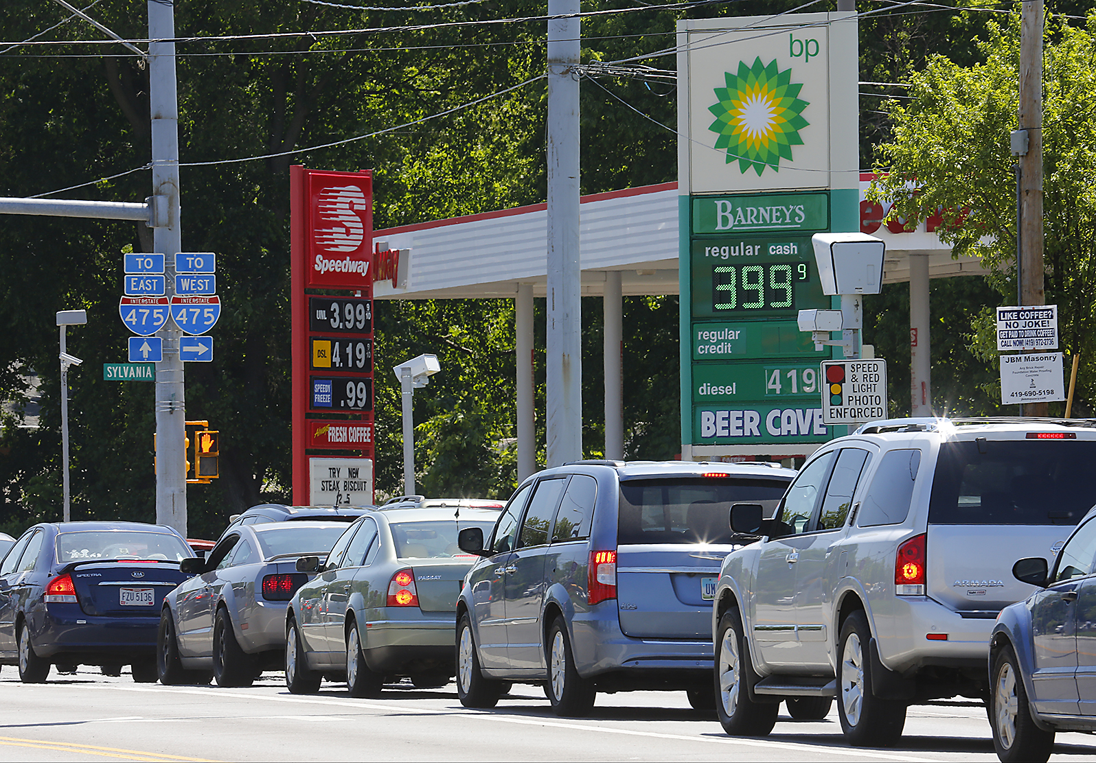 Toledo Gas Prices >> Gas prices up to $3.99 at many Toledo-area stations - The ...