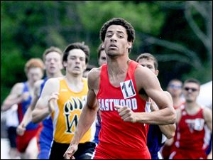Eastwood's Tim Hoodlebrink won the 800-meter race and ran on the Eagles' winning 1600 and 3200 relays.