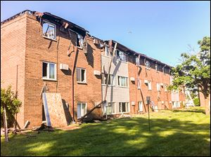 A fire destroyed the Hidden Trail Apartments in Monroe on Saturday morning, forcing 49 families to evacuate. The Red Cross provided them assistance.
