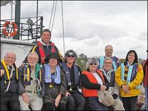 Back row (l to r):  Chris Hoover, Don Leutz Front row (l to r):  Larry Cole, Dan Strohmeier, Mary Strohmeier, Linda Osborn, Bernie Overly, Wayne Osborn, Jan Leutz, Dale Overly.
