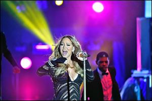 Mariah Carey performs during the World Music Awards at Sporting Monte-Carlo on May 27.
