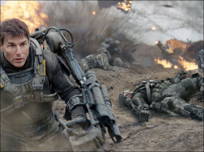 Film Review Edge of Tomorrow Tom Cruise plays Major William Cage in the sci-fi action-thriller 'Edge of Tomorrow.'