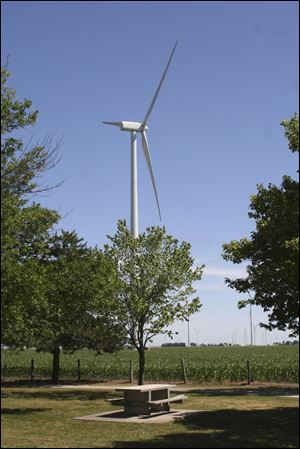Only 12 of the 152 wind turbines in the wind farm in Van Wert and Paulding counties would have been built if House Bill 483 was in place three years ago.