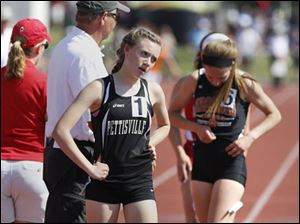 Pettisville's Alexa Leppelmeier places 10th in the Div. III 1600-meter run.