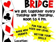 FUN & FRIENDLY GAME OF BRIDGE