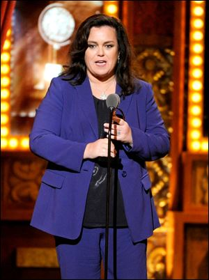 Rosie O'Donnell accepts the Isabelle Stevenson Award on stage at the 68th annual Tony Awards at Radio City Music Hall on Sunday.