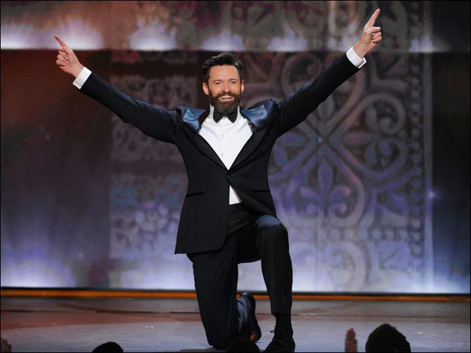 68th Annual Tony Awards - Show Host Hugh Jackman performs onstage at the 68th annual Tony Awards at Radio City Music Hall on Sunday in New York.