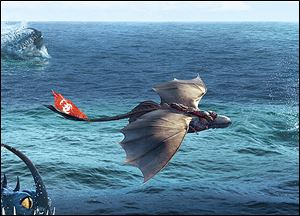 One of many action scenes from '‍How To Train Your Dragon 2.'