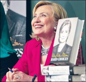 Hilary Clinton's 'Hard Choices' was published Tuesday.