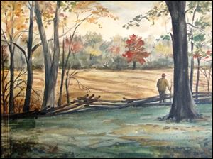 '‍Autumn Portrait' by the late Julius Orosz. Artwork by the commercial artist, painter, and conservationist will be on view through July at the Way Public Library in Perrysburg.