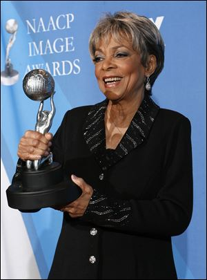 Ruby Dee with the Chairman's award at the 39th NAACP Image Awards, in Los Angeles in February, 2008.