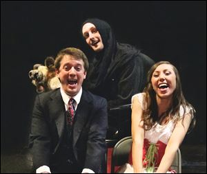 Trent Dorner, Patrick Boyer, and Kristin Kukic star in 'Young Frankenstein.'