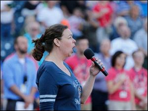 Allison Reed sings the National Anthem.