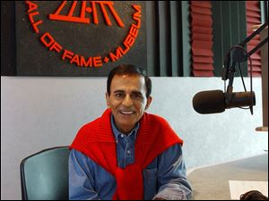 Radio personality Casey Kasem at the Rock and Roll Hall of Fame in Cleveland in July, 2003. Kasem, the smooth-voiced radio broadcaster who became the king of the top 40 countdown, died Sunday.