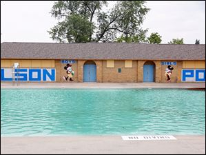 The Wilson Pool is filled and ready to open.