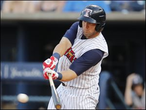 Toledo Mud Hens Tyler Collins takes a swing.