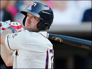Tyler Collins has displayed major-league tools by belting nine home runs and 33 RBIs for the Mud Hens this season along with showing some defensive acumen from his left field position.