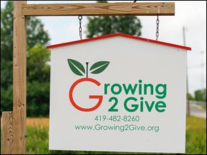 Growing 2 Give is located on Bates Road in Perrysburg Township.