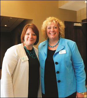 Ovarian Cancer Connection Board members Angie Rumor, left, and Melodee Pollock.