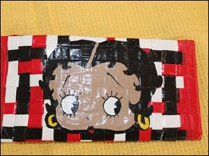 Duct tape Betty Boop wallet by Abigail Thompson, 11 of Pepper Pike.