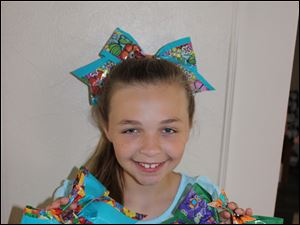Duct tape cheer bows by Madie Stough, 10 of Toledo.