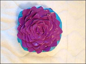 Duct tape flower by  Adelie Semproch, 10 of Monclova.