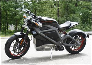 Harley-Davidson's new electric motorcycle at the company's research facility in Wauwatosa, Wis. The company plans to unveil the LiveWire model Monday, June 23, at an invitation-only event in New York.