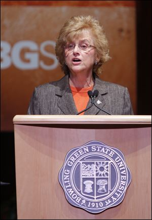 The Bowling Green State University Board of Trustees unanimously approved today a three-year extension of University President Mary Ellen Mazey's contract and gave her a 1 percent pay raise.